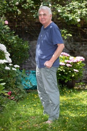 The new, slimmer Robin McKie in his garden.