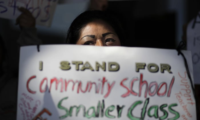teachers of americas second largest school district prepare to strike us news the guardian