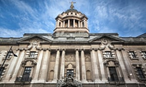 The central criminal court, known as the Old Bailey, in central London.