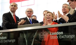 Moya Greene at the opening of trading in Royal Mail shares in 2013.