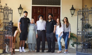 The Bhullar family (l to r): Inveer, Charan, Mohan, Tim, Ravinder and Harneet.