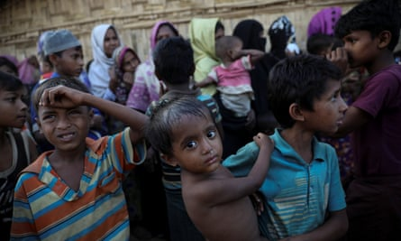 Rohingya refugee children in Bangladesh