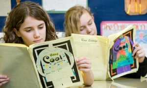 Pupils reading during a Being Cool In School class at Foulford Primary School in Fife, Scotland.