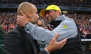 Pep Guardiola and Jürgen Klopp