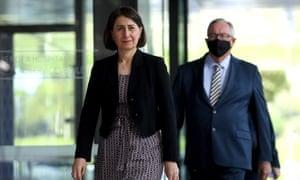 NSW Premier Gladys Berejiklian and Health Minister Brad Hazzard, Sydney, Friday, 15 January.