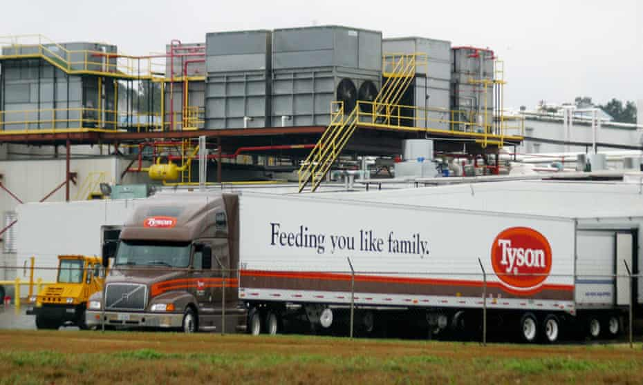 A Tyson Poultry truck at a processing plant in Texas in 2004.