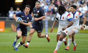 Adam Hastings, seen in Six Nations action against France, has earned 11 caps for Scotland.