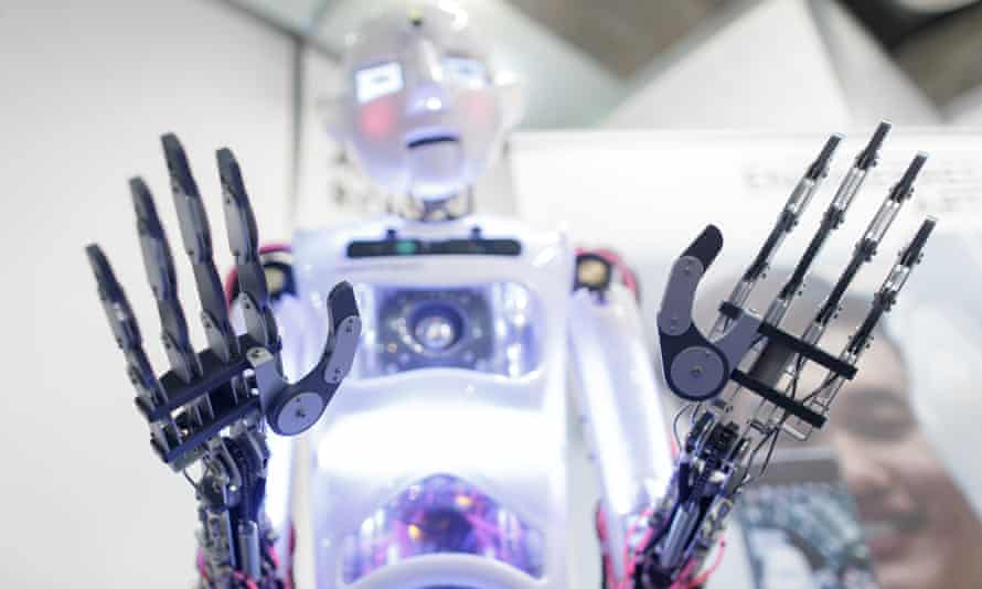 An educational robot on display at an exhibition in Madrid this month.
