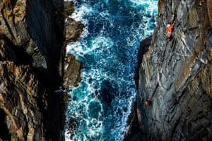 Honourable mention: Lachlan Gardiner Bruny Island, Tasmania, Australia Charlotte Blake climbs Maelstrom, a traditionally protected crack climb located on the sea cliffs of Bruny Island off Tasmania