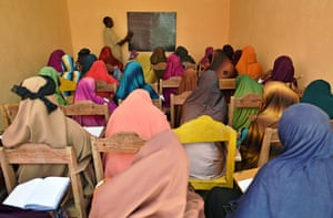 Young women in a session at the Elman Peace and Human Rights Centre in Mogadishu
