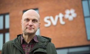 Swedish Television reporter Fredrik Onneval
