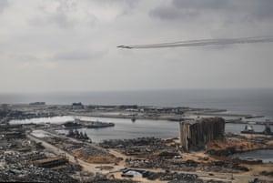 Jets fly over Beirut