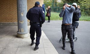Police in one of the 'banlieues' on the outskirts of Paris from where many radicalised young immigrants come.