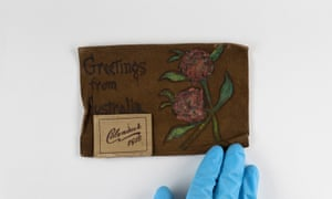 A 1918 calendar with the words 'Greetings from Australia' inscribed.