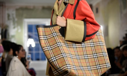 A Burberry bag costs about £1,000 now.
