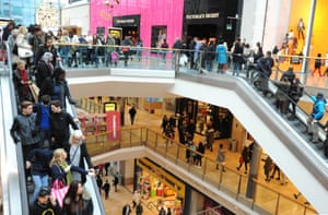 Shoppers hunt for deals at the Bull Ring, Birmingham, as shops across the UK opened their doors for Black Friday.