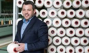 Smooth operator: silk manufacturer Konstantinos Mouhtarides.