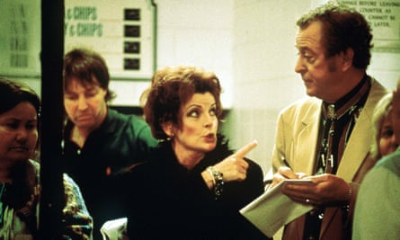 Brassy … as Mari in Little Voice, with Michael Caine.