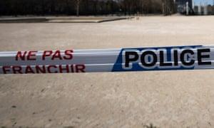 Police tape in France