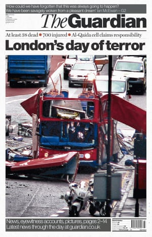 Guardian front page: 'London's day of terror'