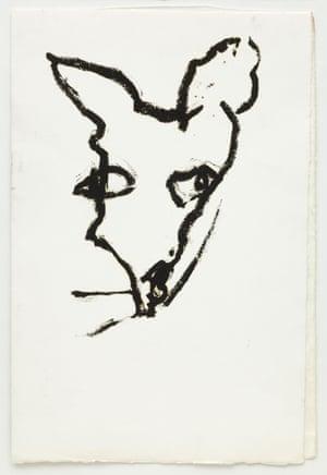 Dog drawing, 2003 by Joan Jonas.