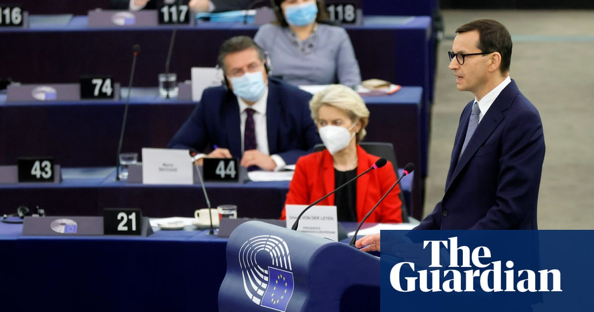 Polish prime minister escalates war of words with EU over rule of law