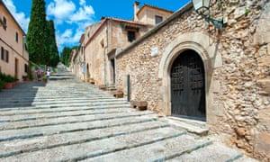 Calvari Steps, Pollenca, Mallorca, Balearics, Spain.