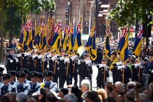 The military parade in Manchester