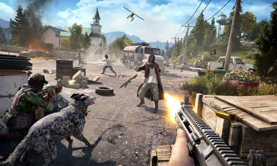 Doesn't succeed in reconciling the two sides of its personality … Far Cry 5.