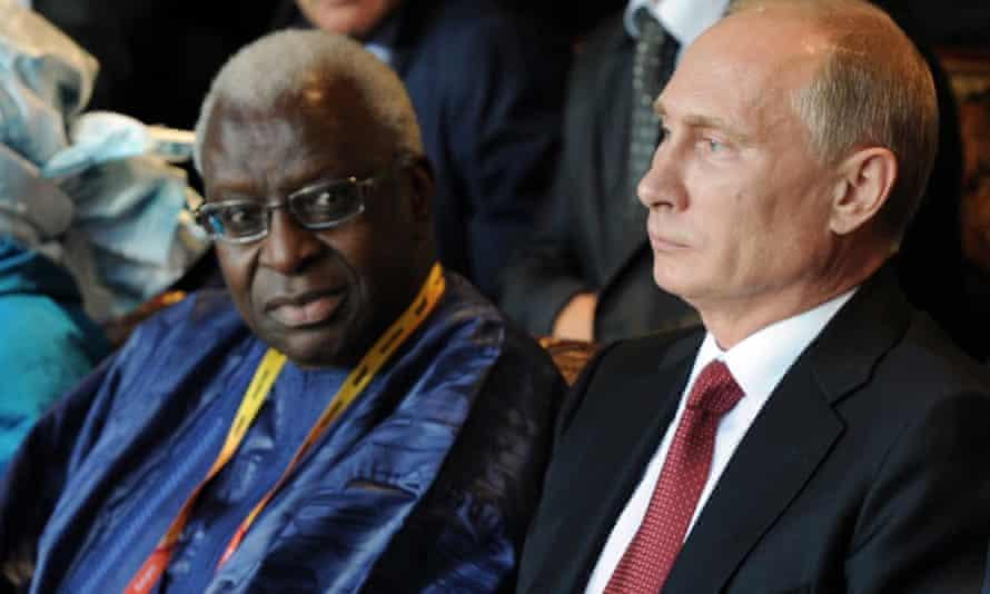Vladimir Putin and Lamine Diack