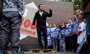 David Cameron speaks at a remain in EU campaign rally at a school in Witney, Oxfordshire.