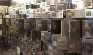 Safety deposit boxes at Hatton Garden