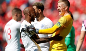 Fabian Delph (left) celebrates winning the third-place play-off with England at the Nations League in June.