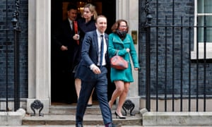 Ministers leaving Number 10 after cabinet today. Left to right: David Gauke, Amber Rudd, Matt Hancock and Natalie Evans.