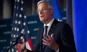 Michel Barnier speaking at the US Chamber of Commerce in Washington, DC, yesterday.