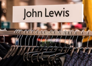 Clothing is displayed inside the new John Lewis store in Westgate shopping centre in Oxford.