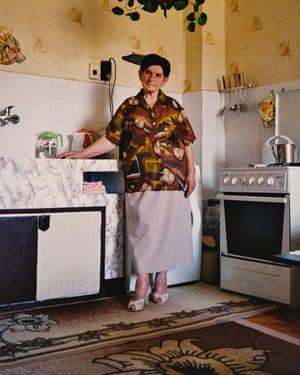 Maria Oteva, 90, one of the first of Dimitrovgrad's 'brigadiers'