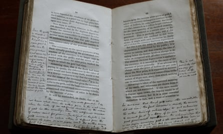 A copy of David Ricardo's On Protection to Agriculture, annotated by John Stuart Mill.