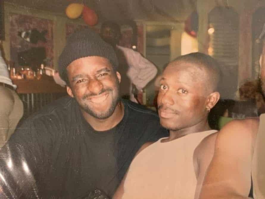Ajamu and Winston in Brixton, 1992.