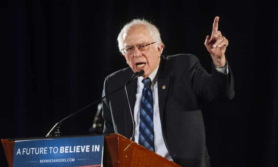 Democratic presidential candidate Bernie Sanders speaks in Las Vegas.