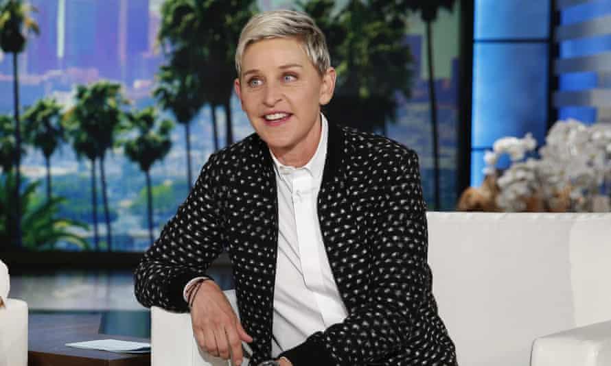 Ellen DeGeneres muncul selama rekaman acaranya yang sudah berjalan lama di Burbank, California, pada tahun 2016