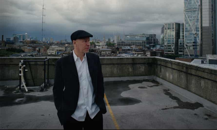 Matt Johnson on a roof in Shoreditch, east London.