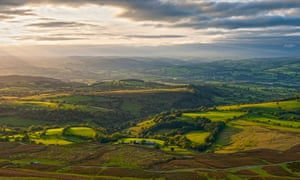 Brecon Beacons national park at Hay Bluff