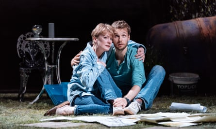Wilting on the farm … Claire Skinner (Jenny) and Sion Daniel Young (Ryan) in Nightfall.