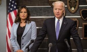 Joe Biden and Mariska Hargitay.