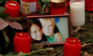 A tribute to the victim of the school shooting in Winnenden, near Stuttgart, by 17-year-old Tim Kretschmer.