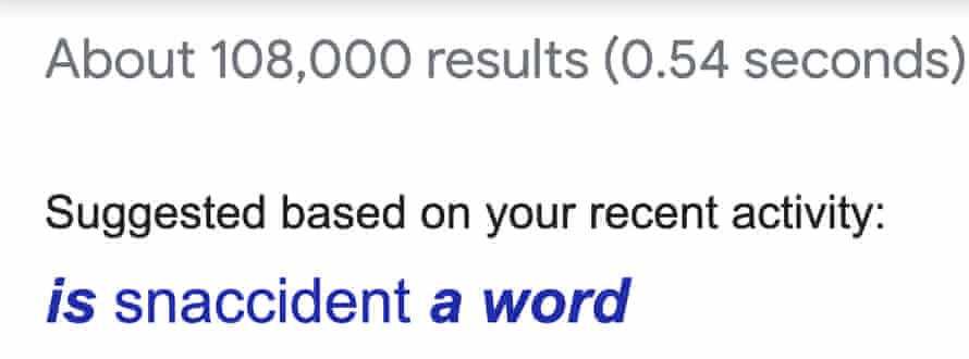 Google search for 'snaccident'