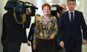 Pauline Hanson and her chief of staff James Ashby