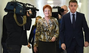 Pauline Hanson with James Ashby