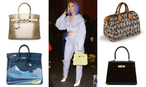 Handbag aficionado Cardi B with some of the examples fuelling the secondhand market.